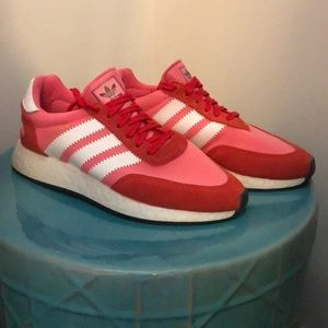 Like New Pink & Red Adidas